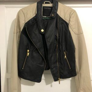 Black beige jacket